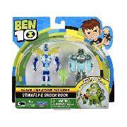Ben 10 - 2 Bonecos Criação Alien Insectóide E Rocha Elétrica