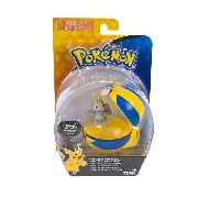 Pokemon - Clip Carry - Machop + Pokebola Quick Ball - Tomy