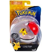 Pokemon - Clip Carry - Pikachu + Pokebola - Tomy Original