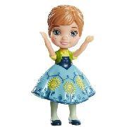 Mini Boneca - Frozen Da Disney - Anna Com A Saia Verde Piscina
