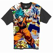 Camiseta Anime - Dragon Ball Super - Goku E Vegeta Blue