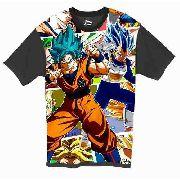 Camiseta Anime - Dragon Ball Super - Goku E Vegeta Blue