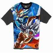 Camiseta Anime - Dragon Ball - Goku Instinto E Vegeta Blue