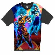 Camiseta Anime - Dragon Ball - Goku E Vegeta Blue