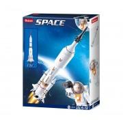 Blocos de Montar Foguete Espacial 167 Peças - Multikids