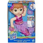 Boneca Baby Alive Linda Sereia Ruiva - Hasbro Original E4410