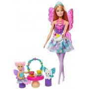 Boneca Barbie Fantasia - Festa do chá -  Dreamtopia - Mattel