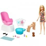 Boneca Barbie Spa - Salão de Manicure com Pet - Mattel GNH07