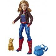 Boneca Capita Marvel Luxo com Gata Goose - 30cm - Hasbro