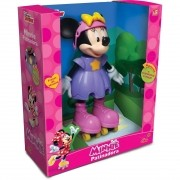 Boneca Minnie Patinadora 25 cm -  Disney Jr Falante - Elka