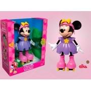 Boneca Minnie Patinadora 25 cm -  Disney Jr Falante - Elka
