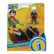 Boneca Ravager & Moto -DC -  Imaginext - Mattel - Brinquedos