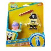Boneco Bob Esponja e Gary -  Imaginext - Mattel - Brinquedos