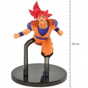 Boneco Dragon Ball - Goku Sayajin God 20cm - FES Banpresto