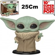 Boneco Funko Pop 10 Polegadas - Child Baby Yoda 369 - 25cm