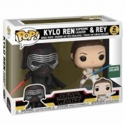 Boneco Funko Pop - Kylo Rean Supreme e Rey 2 Pack Star Wars