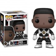 Boneco Funko Pop - Power Rangers Black No Helmet Zack 672