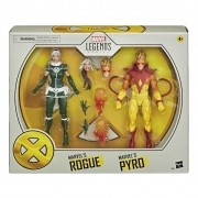 Boneco Marvel Legends - Vampira Rogue e Pyro Hasbro Original