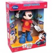 Boneco Mickey Skatista Radical 24cm -  Falante Disney Elka