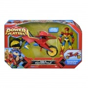 Boneco Power Players - Figura e Veículo - Moto do Axel Sunny