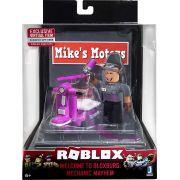 Boneco Roblox - Mini Playset - Mechanic Mayhem + Cod Virtual