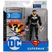 Boneco Superman (Black Suit)  - DC 3 Acessorios Misteriosos - Spin Master