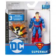 Boneco Superman  - DC 3 Acessorios Misteriosos - Spin Master