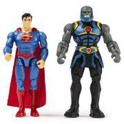 Boneco Superman & Darkseid - DC Super Vilões - Spin Master