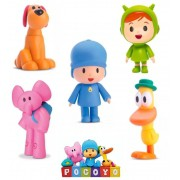 Bonecos Pocoyo - Kit com 5 Figuras - Elly Nina Loula Pato