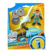 Brinquedo Imaginext  - Shark e Mergulhador Jet ski - Mattel