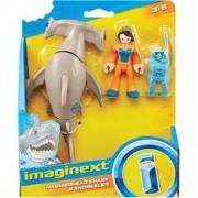 Brinquedo Imaginext  - Tubarão e Mergulhadora - Mattel