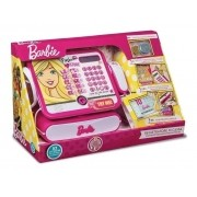 Caixa Registradora Barbie Luxo - Com Calculadora e Som - Fun