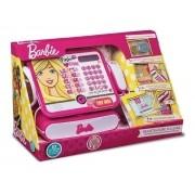 Caixa Registradora Barbie Luxo - Com Calculadora e Som - Fun