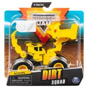 Carro Monster Jam  - Scoops - Dirt Squad - Escala 1:64 - Original