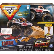 Carro Monster Jam - Zombie - Monster Dirt Starter Set Escala 1:64 - Sunny Original