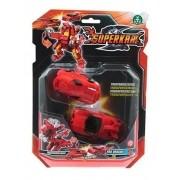 Superkar Red Dragon Carro Transformação Brinquedo Chocolate