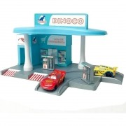 Cars Posto de Gasolina e 2 Carros - Disney Pixar - Toyng