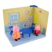 Cenário da  Peppa - Cozinha Peppa Pig e Mamãe Pig - Sunny