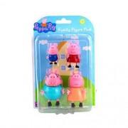 Bonecos Família da  Peppa - Kit com 4 Figuras - Sunny 2301