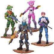 Fortnite - Pack 4 Figuras e Acessórios - Squad Mode Original