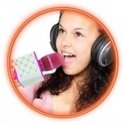 Karaokê Microfone Infantil Rosa - Bluetooth Musical - Toyng