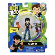 Kit com 2 Figuras Ben 10 - Kevin e Chama Armadura Omni Kix