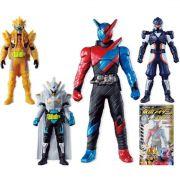 Kit Kamen Rider - 4 Bonecos  - 12 Cm - Original Bandai