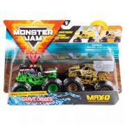 Monster Jam Truck  2 Carros - Grave Digger Vs Max-D 1:64