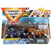 Monster Jam Truck  2 Carros - Mohawk Warrior Vs Jester 1:64