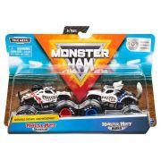 Monster Jam Truck  com 2 Carros - Dalmatian Vs Huskey 1:64