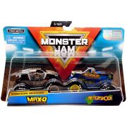 Monster Jam Truck  com 2 Carros - Max D Vs Aftershock 1:64