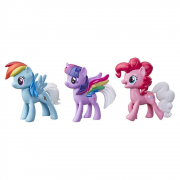 My Little Pony - Pack com 3 Figuras - Arco-iris Surpresa