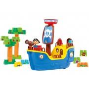 Navio Pirata Baby Land - 30 Blocos de Montar - Cardoso Toys
