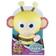 O Parque dos Sonhos - Pelúcia Mico Abelha - 30 cm - Perfumado - Sunny